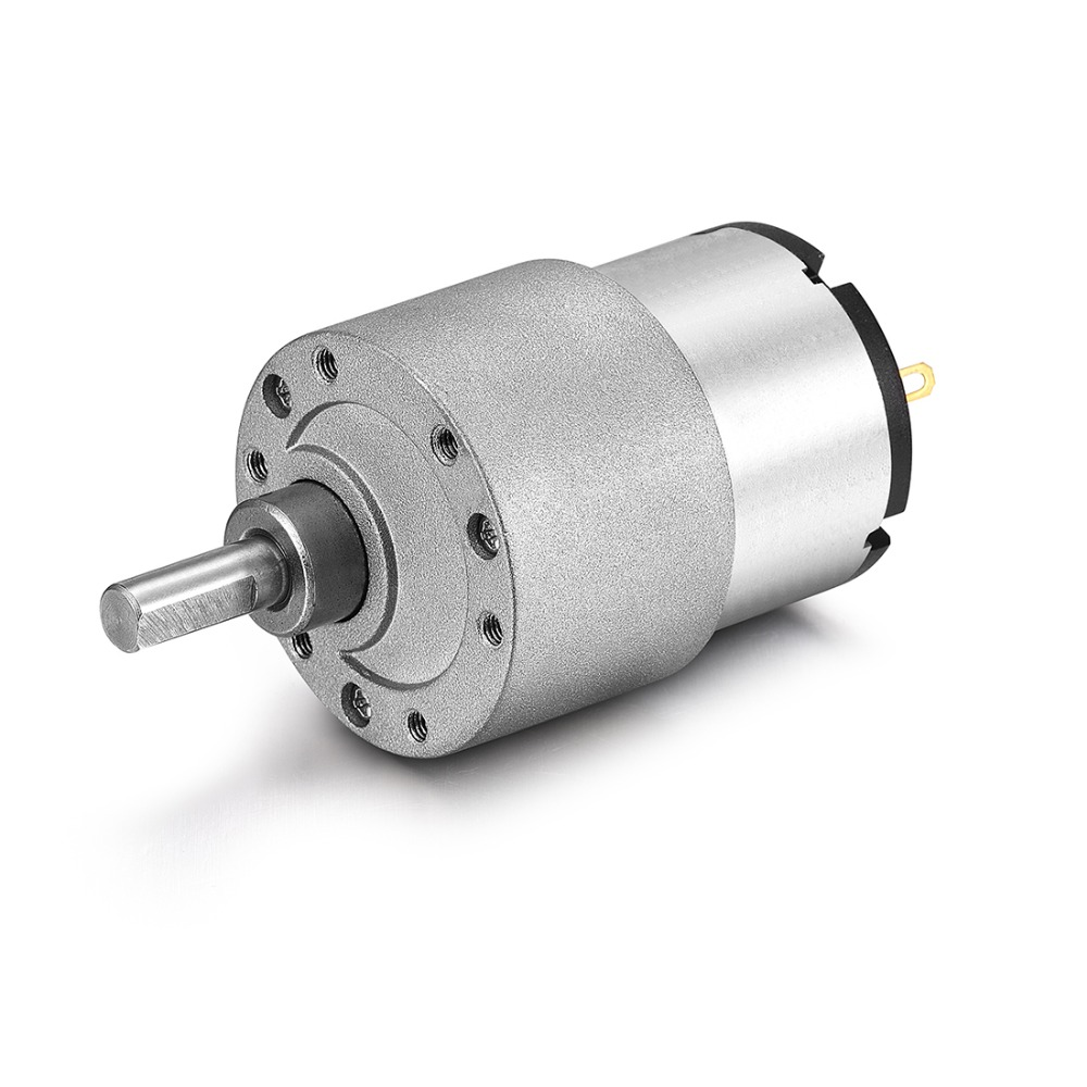 Uxcell New Hot DC 12V 3.5rpm Reductor Motor 6mm Diameter Shaft Electric Gear Box Speed Reduction Motor JGB37-520 Electric Toys