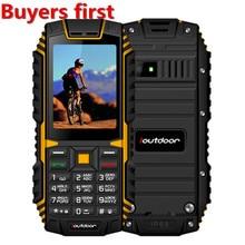 Original ioutdoor T1 IP68 impermeable teléfono celular 2,4 pulgadas 128 m + 32 m GSM 2MP FM MP3 2100 mAh resistente a prueba de choques a prueba de polvo teléfono móvil