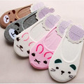 1 Pair Summer Women Cotton  Pretty Socks Lady Invisible Nonslip Loafer Liner Low Cut Cartoon Breathable Animal Short Sock