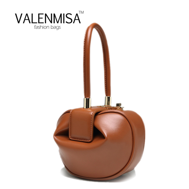 VALENMISA Vintage Women Genuine Leather Hobos Bag Luxury Handbags Women Bags Designer Tote Bag For Women Purses And Handbags flower pattern top handle bags for girls hobos small women leather tote bag women bag female handbags black purses and handbags
