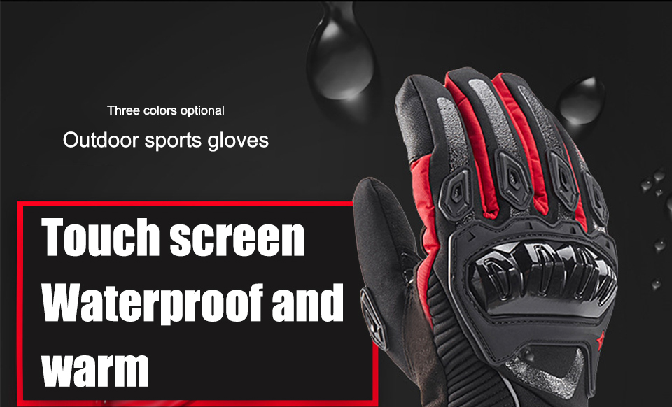 Foxcncar motorcycle gloves 100% Waterproof windproof Winter warm Guantes Moto Luvas Touch Screen Motosiklet Eldiveni Protective (7)