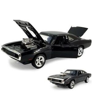 Image 1 - MINI AUTO 1:32 Dodge Ladegerät Die Schnelle Und Die Furious Legierung Auto Modelle kinder spielzeug für kinder Klassische Metall Autos