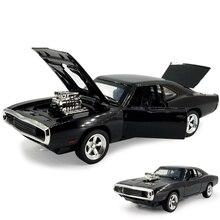 MINI otomatik 1:32 Dodge şarj cihazı hızlı ve öfkeli alaşım araba modelleri çocuk oyuncakları çocuklar için klasik Metal araba