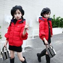 Children Girls Down & Parkas 3~9T Winter Kids Outwear Girls Casual Warm Hooded Jacket Toddler Warm Coats