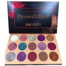 Красота глазурованная 15 Цвет Тени для век Палитра Блеск прессованные блестки макияж палитра Алмазный косметический магнит палитра дропшиппинг