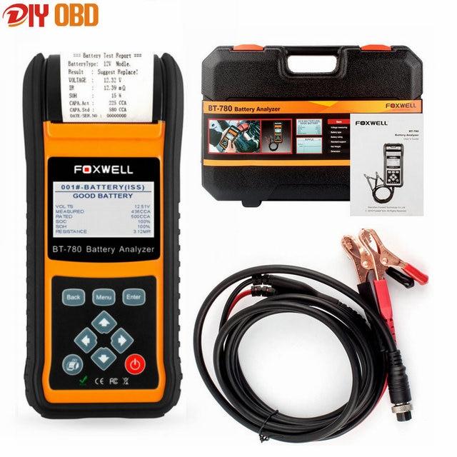 2017 Auto Battery Tester Foxwell BT780 Automotive 12V&24V Vehicle Car Battery Analyzer BT-780 AGM& EFB Batteries With Printer