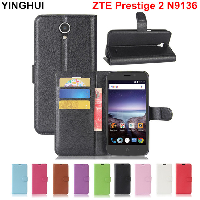ZTE Prestige 2 N9136 Case Cover Coque Funda Capa Wallet Flip PU Leather Case for ZTE Prestige 2 N9136 Cover with Stand Card Slot