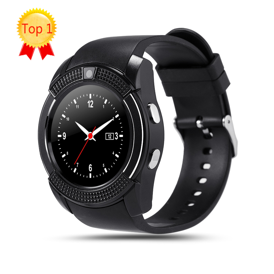 V8 Smart Watch Clock With Sim TF Card Slot Bluetooth Connectivity for ios Android Phone watch