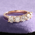 1.25 Carat F Color Moissanite Diamond Engagement  Wedding Band Half Eternity Matching Band Real 14K 585 Yellow Gold