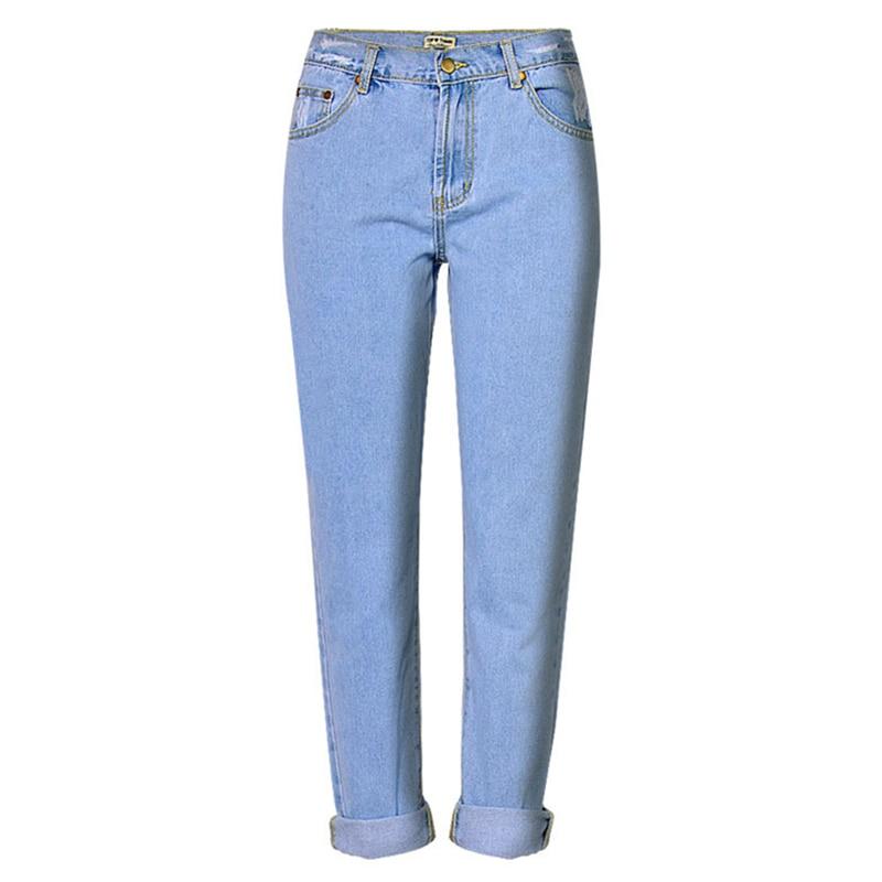 De Mujeres Las Azul Vaqueros Lavado Nuevas Luz Estilo La Novio Jeans Alta  Denim Moda Blanqueado ... 61eaf9d72573