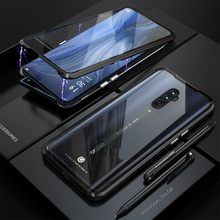 Luxury Magnetic Front And Back Glass Case For OPPP Reno 10X Zoom 360 Full Body Cover OPPO Metal Bumper