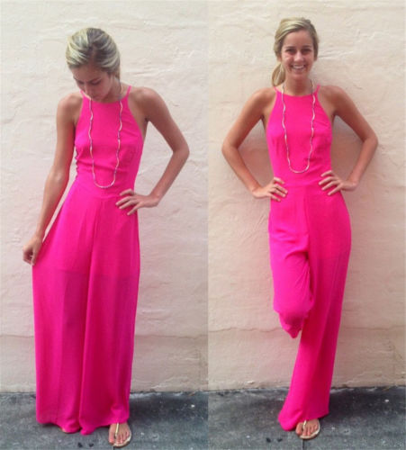 2cf95b055c3b Hot Jumpsuit Women Clubwear Summer Sleeveless Playsuit Casual Loose Jumpsuit  Rompers Womens Jumpsuit Wide Leg Pants Trousers-in Jumpsuits from Women s  ...
