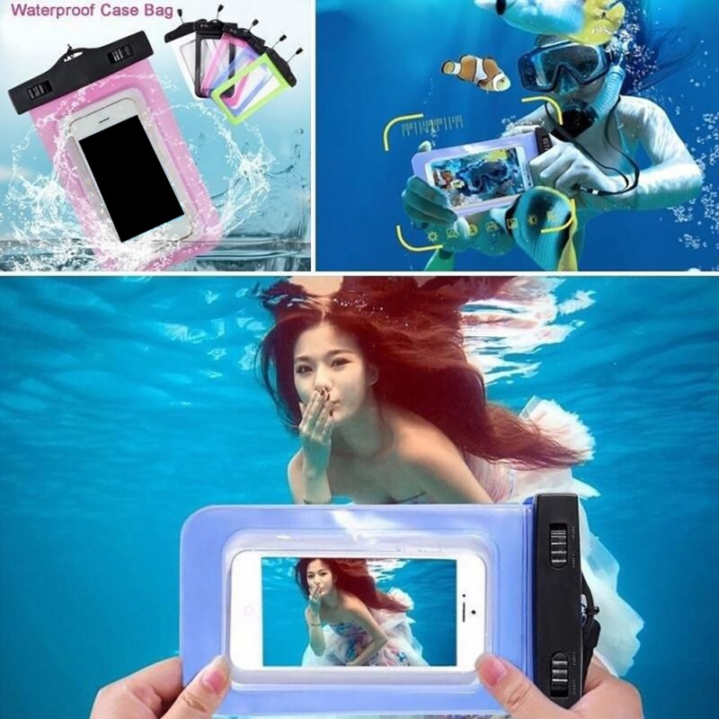 Waterproof Case Phone Dry Bag Men Women Inflatable Floating Dustproof Touch Screen Pouch Holder Cover Package Accessories