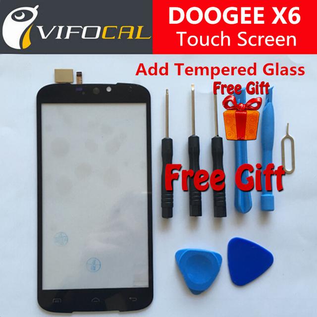 Doogee x6 pantalla táctil 100% nuevo reemplazo del panel de cristal digitalizador externo para doogee x6 5.5 pulgadas teléfono móvil