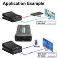 1080P HDMI To SCART Video Stereo Audio Converter Adapter NTSC PAL For HD TV Box NTSC and PAL TV formats Computer PC