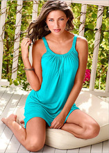 New style summer loose Sling Dress comfortable size Fat MM beach and street clothes