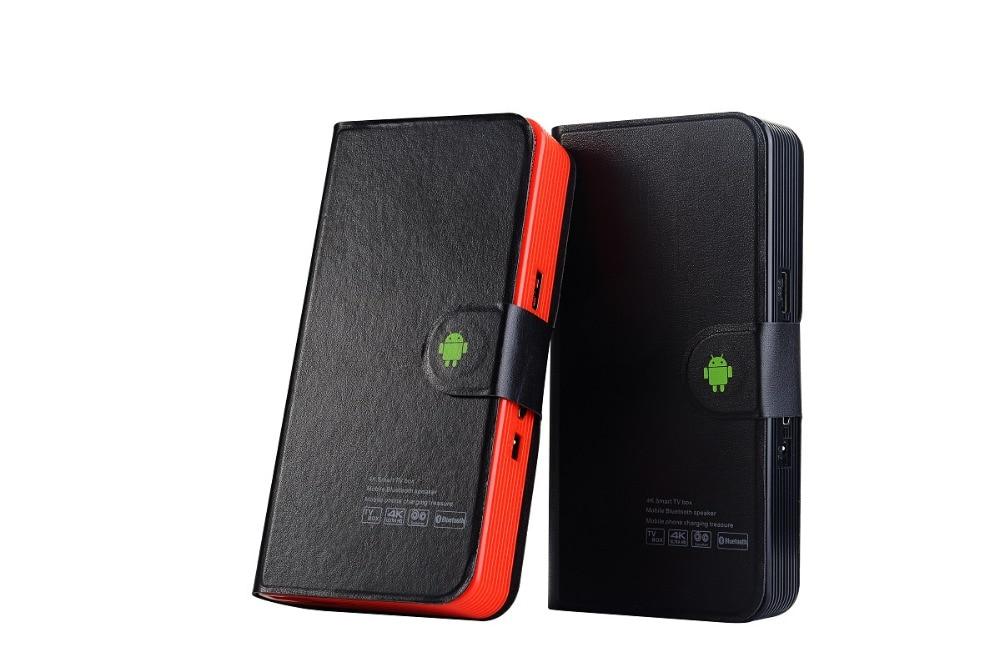 Tout en un avec haut-parleur BT + batterie externe + android 6.0 tv box intelligent iptv box IUDTV QHDTV WSTV pour arabe Latinos America