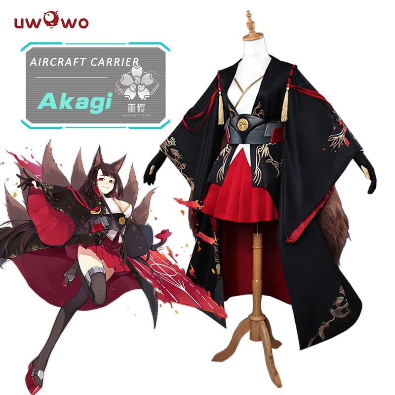 UWOWO Akagi Azur Lane Cosplay Anime Azur Lane Costume Akagi Fox Kimono Costume Women