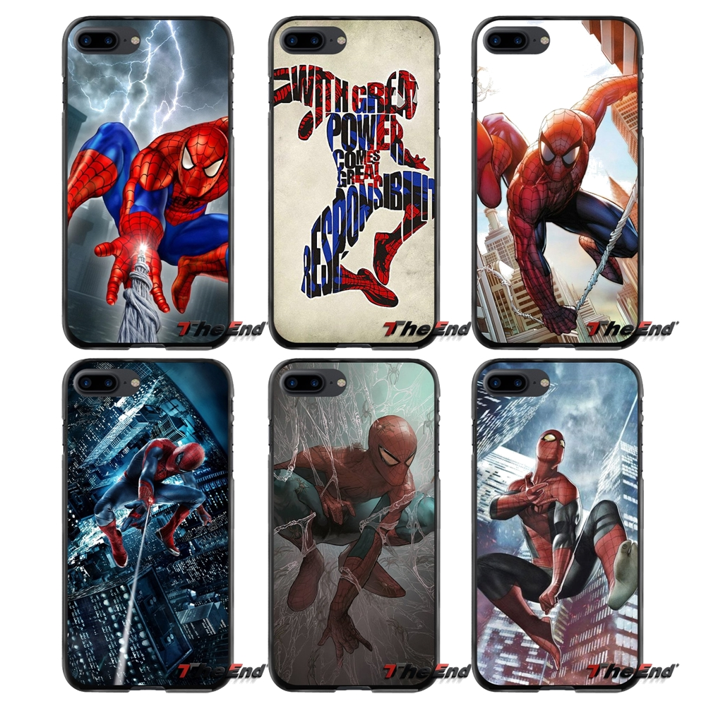 For Apple iPhone 4 4S 5 5S 5C SE 6 6S 7 8 Plus X iPod Touch 4 5 6 Spiderman Spider Man Accessories Phone Cases Covers