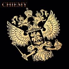 3D алюминиевый герб России, металлический стикер для кузова автомобиля с изображением орла, декоративные наклейки для lada kia Renault VW BMW