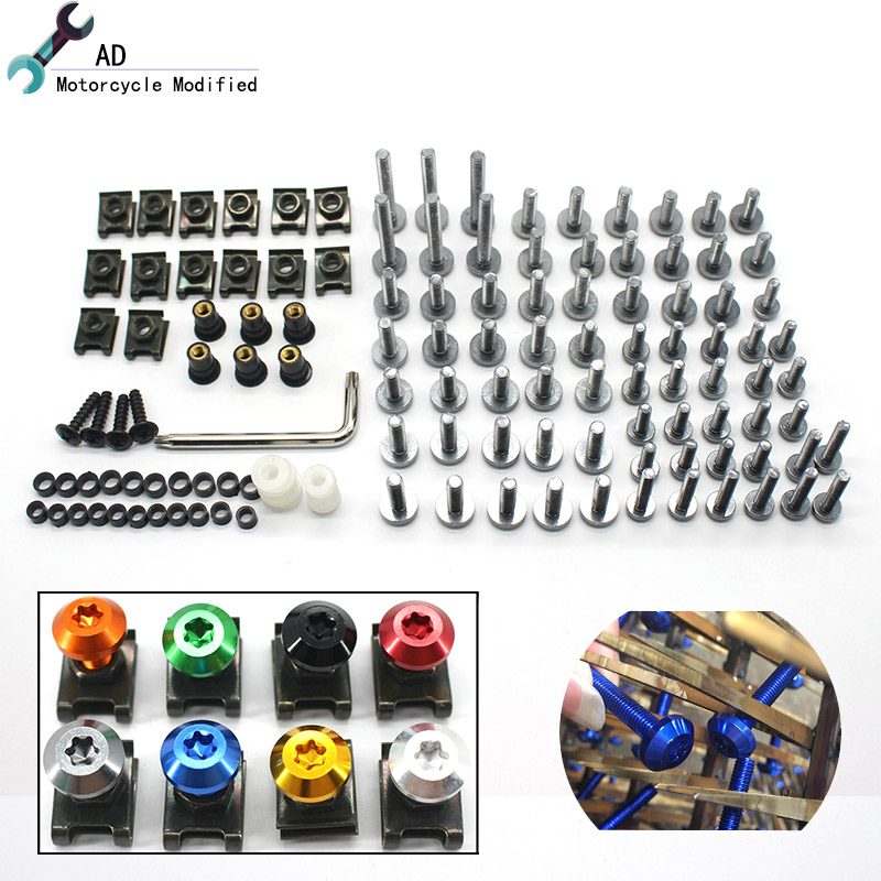 For Triumph Motorcycle Glass Bolts for Windshield Windscreen Body Shell Nuts Screw 6MM & 5MM Tiger 1050 Tiger 800 speed four @ 6mm motorbike body work fairing bolts screwse for yamaha fz1 fazer fz6 fz6r fz8 xj6 diversion triumph tiger 800 1050