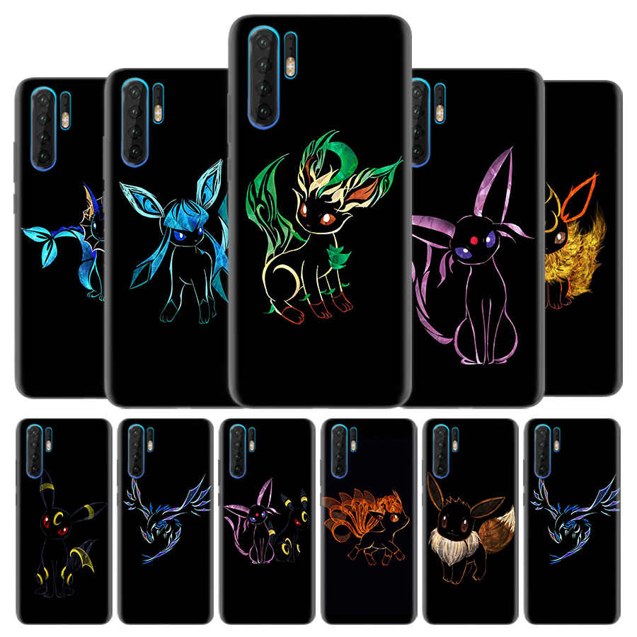 Silicone Phone Case for Huawei Mate 20 10 P30 P20 P10 P9 Nove 5 5i Pro Lite P Smart Z Plus 2019 Cute eevee Cover Couqe Fundas