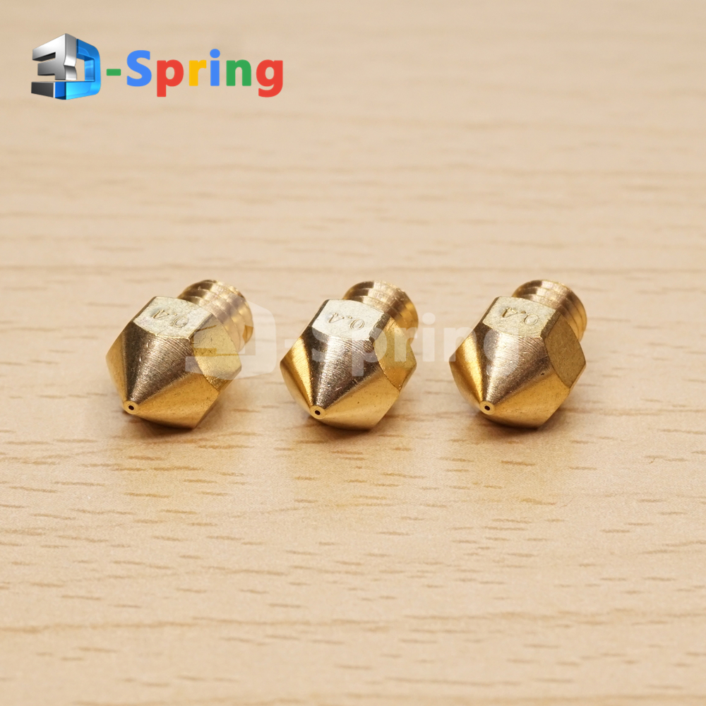 MK8 Nozzle Copper (NOT Brass) 0.2-2.0mm CR10 for 3D Printer Creality Cr-10 Cr-10s Cr10s Ender 3 Hote
