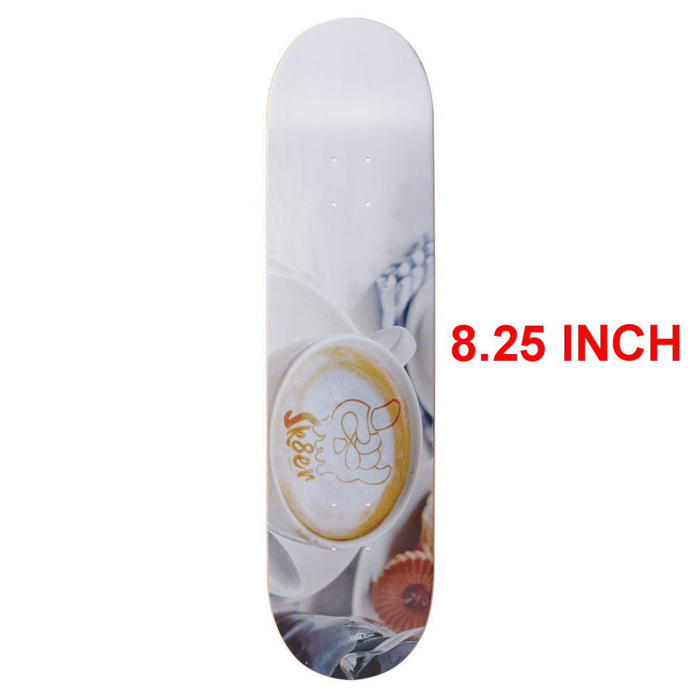 SK8ER Canadian Maple Skateboard Decks 8.25 inch Quality 8 Layers Canadian Maple Skate Deck For Skateboarding with 1 griptape-in Skate Board from Sports & Entertainment