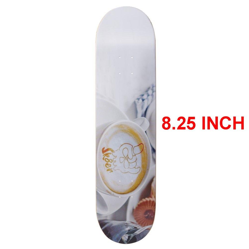 SK8ER Canadian Maple Skateboard Decks 8.25 Inch Quality 8 Layers Canadian Maple Skate Deck For Skateboarding With 1 Griptape