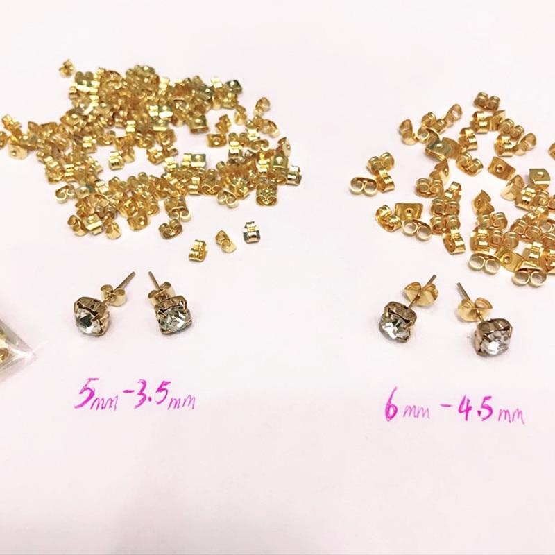 earplugs Jewelry Parts earplug earrings Back plug Cap accessories earrings Plugging Diy butterfly buckle Blocked Stopper 2018