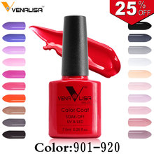 Free Shipping Nail Art Design Manicure Venalisa CANNI 60 Color 7.5Ml Soak Off Enamel Gel Polish LED UV Gel Nail Polishes Lacquer