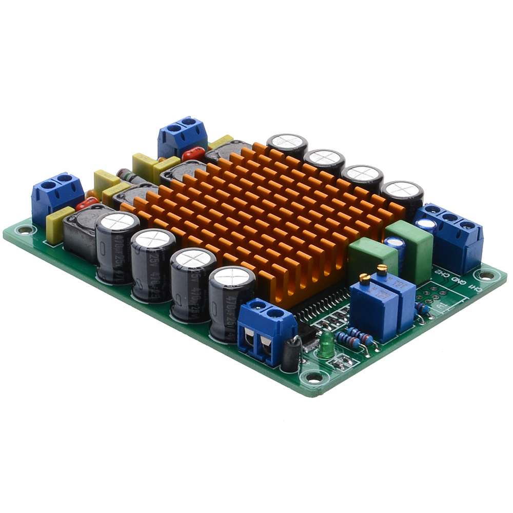 Tk2050 T Class 50w Digital Power Amplifier Board 2 Channel D Circuit Lm1036 Tone Controlled Irs2092 Free Shipping With Track Number 12000395 In From Consumer Electronics On