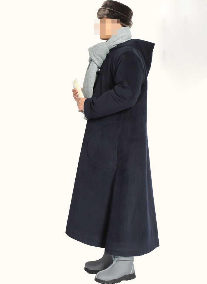 5 видов цветов унисекс Зимние теплые буддийский монах костюм кунг-фу боевых искусств халат шерстяное пальто лежал медитации накидка бежевый/серый/синий