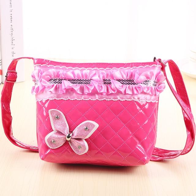 Children Mini Satchel Bag Bow Diamond Crossbody Shoulder Bags For Kids S School Princess Handbags