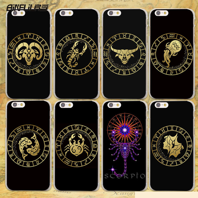 BiNFUL Zodiac Signs design transparent clear Case Cover for Apple iPhone SE 5s 7 7Plus 6 6s Plus 5 4s