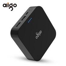 Aigo Мощность Bank 10000 мАч Dual USB быстрой Зарядное устройство мобильного телефона Портативный внешний Батарея Мощность банка для iPhone SE Samsung Galaxy S8