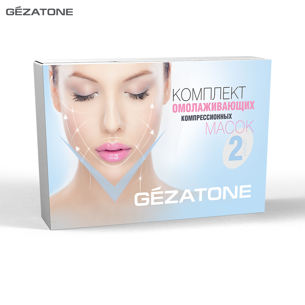 Masks Gezatone 102406 face mask facial rejuvenation skin care anti-wrinkle 10pcs set mengxilan blackhead remover nose strips deep cleaning plant pore strip purifying facial mask acne treatment skin care