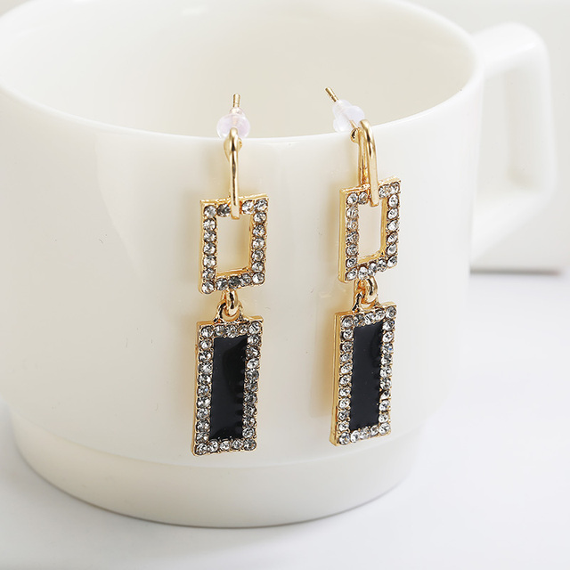 Geometrische Vintage frauen Ohrringe 2019 Mode Schmuck Große Ohrringe Quadrat Sterne Charme Lange Ohrring Set In Bohrer Für Party geschenk