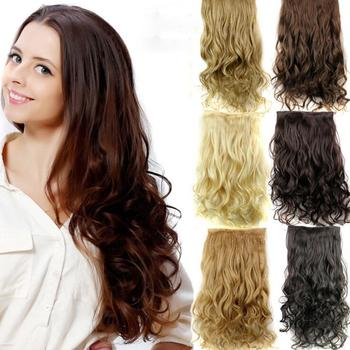 5Pcs Clip False Hair Synthetic Hair Extension