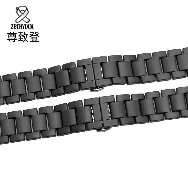 Untuk Samsung Gear S2/S3 Gelang Jam Kualitas Scrub Keramik Tali 20 Mm 22 Mm Mewah Logam Gelang untuk huawei Watch 2