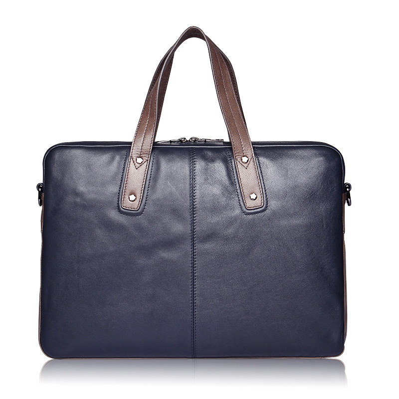 Mens Genuine Leather Solid Color Business Aircraft Office Travel Handbag Handsome And Stable Large Capacity Computer Bag Mens Genuine Leather Solid Color Business Aircraft Office Travel Handbag Handsome And Stable Large Capacity Computer Bag