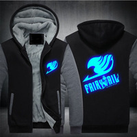 2017 Winter Jackets Cosplay fairy Tail hoodie Japanese Anime Hooded Thick Zipper Men Cosplay costume Sweatshirts