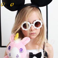 2019 NEW arrived Sun Flower Round Cute kids sunglasses UV400