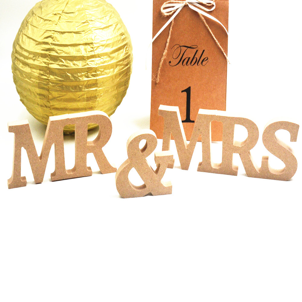 large mr mrs capital wooden letters for decorations party wedding supplies wooden craft festival ornaments