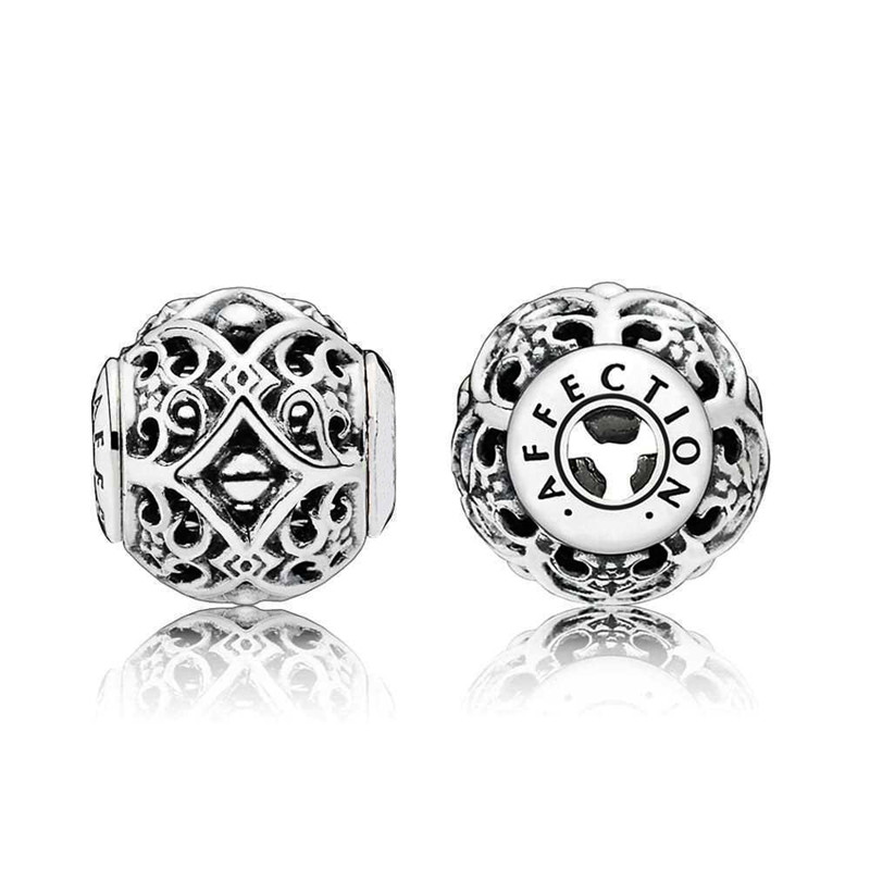 AFFECTION Charm Beads 100% Authentic 925 Sterling Silver Fits Original pandora Essence Collection Charms Bracelets DIY Jewelry