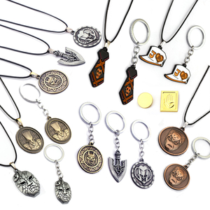 JOJOS BIZARRE ADVENTURE Keychain DIO Mask Metal Key Ring Crazy D Rape Chain Pendant Key Chain Chaveiro Jewelry Men Women Gift(China)