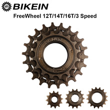 BIKEIN - Bicycle Single Speed 12T/14T/16T Freewheel 3 Speed 16T/19T/22T Flywheel Sprocket Gear Metal 34mm Cycling BMX Bike Parts