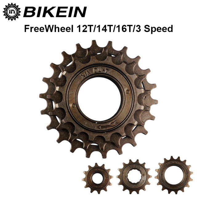 BIKEIN-Rower Single Speed 12 T/14 T/16 T Wybiegiem 3 Prędkości 16 T/19 T/22 T Zębatka Koła Zamachowego Metal Gear 34mm Kolarstwo BMX Bike Parts