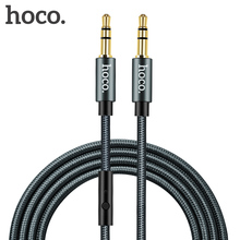 HOCO Audio Jack 3.5mm Jack Male to Male with Microphone Headphone AUX Cable for All Smartphone Car Subwoofer Speaker MP3/4 1m