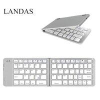 Landas Mini Foldable Keyboard Wireless 3.0 For iPhone Smart Phone Folding Keyboard Bluetooth Wireless For iPad For Xiao Mi